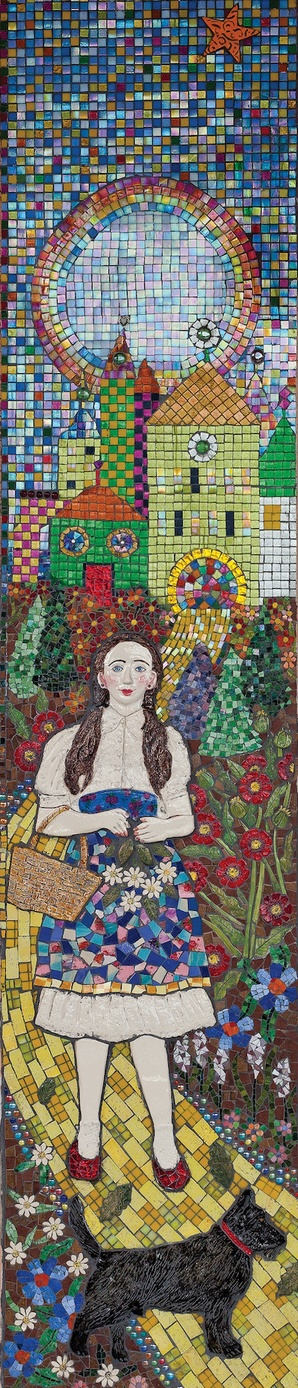 Suzi K. Edwards Public Art-Susan B Katz Theater Architectural Ceramics, glass and ceramic mosaics