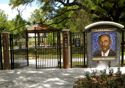 Suzi K. Edwards Z.L. Riley Park, Orlando, Florida Ceramic Mosaic