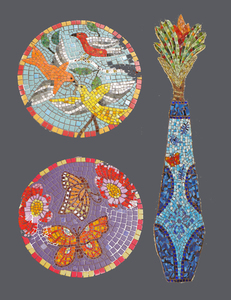 Suzi K. Edwards Z.L. Riley Park, Orlando, Florida glass and porcelain mosaics