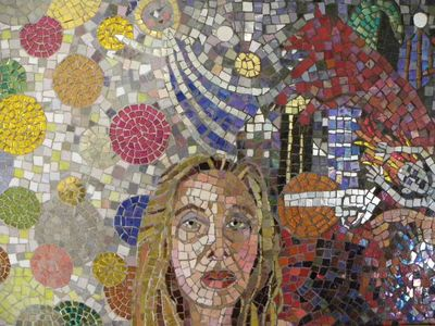 Suzi K. Edwards Sculptures and Miscellaneous Mosaics Glass mosaic smalti