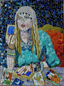 Suzi K. Edwards The Wedding of Queen Victoria and Prince Albert & other odd images Glass Mosaic Beads and Pearls