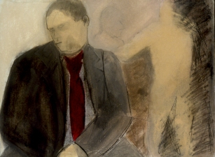 Sylvia Sherwin Goldberg Figures mixed media on paper