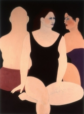 Sylvia Sherwin Goldberg Figures oil on canvas