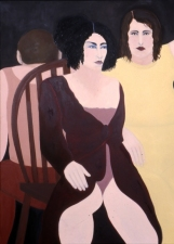 Sylvia Sherwin Goldberg Figures oil on camvas