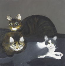Sylvia Sherwin Goldberg Animals oil on canvas