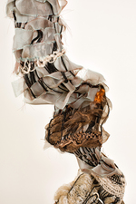 Sylvia Vander Sluis Fiber Work Handwoven fiber and cord over wire mesh