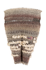 Sylvia Vander Sluis Fiber Work Handwoven with various yarns, silk fabric over mesh