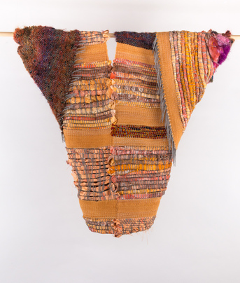 Sylvia Vander Sluis Fiber Work Handwoven wool, cotton, and nuno felting