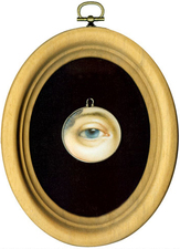 Tabitha Vevers Lover's Eye (early) Oil on ivory with sterling silver bezel