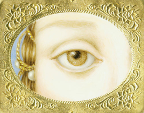 Tabitha Vevers Lover's Eye (early) Oil on Ivorine with tintype frame
