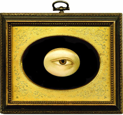 Tabitha Vevers Lover's Eye (early) Oil on ivory with tintype frame