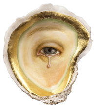 Tabitha Vevers Shell Series Oil and gold leaf on oyster shell