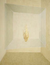 Tabitha Vevers Seeking Symmetry oil + 23k gold leaf on panel