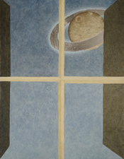 Tabitha Vevers Seeking Symmetry oil + palladium leaf on panel