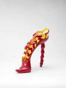 High-heeled shoe sculpture
