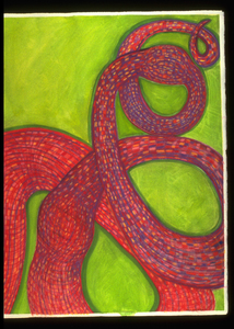 """Knots"" Conte crayon and watercolor on archival paper"