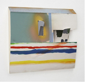 Tamara Zahaykevich Qi Foam board, paint, paper, tape, glue