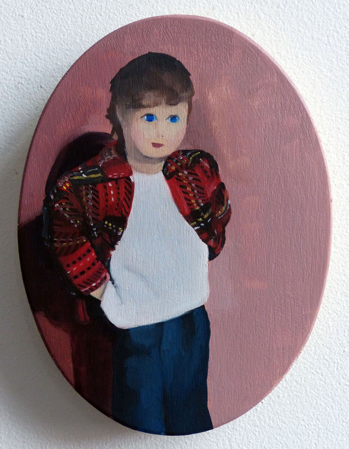 Paintings Portrait with Plaid