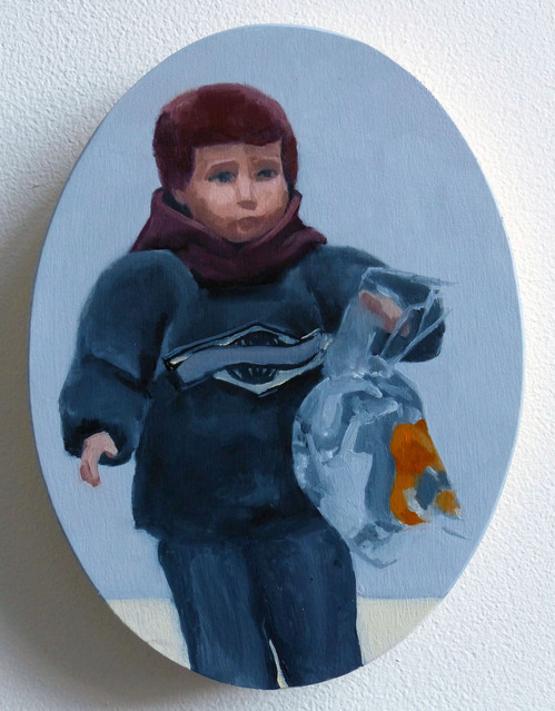 Paintings Portrait with Goldfish