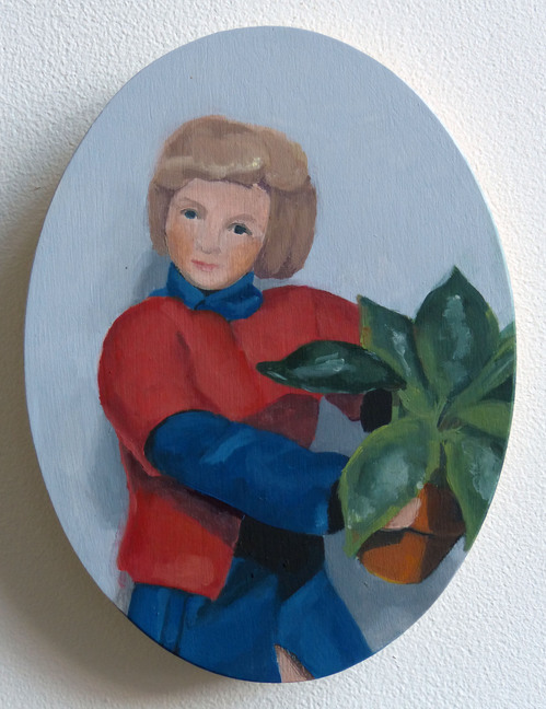 Paintings Portrait with Houseplant