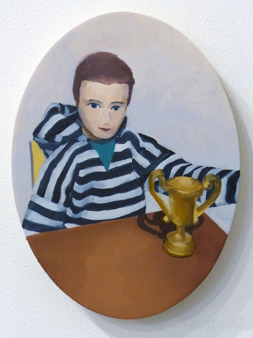 Paintings Portrait with Trophy