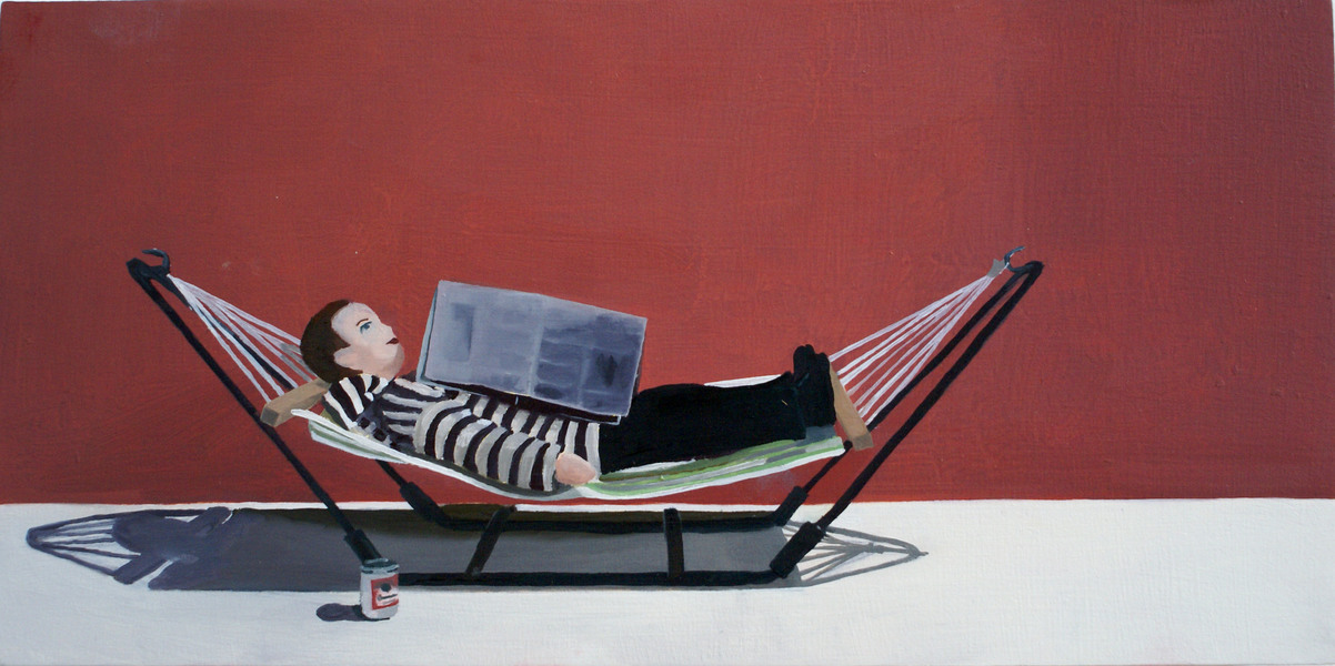 Paintings Man with Hammock