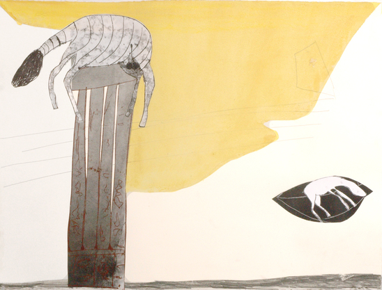 Tatana Kellner PAINTINGS acrylic, trace monoprint, charcoal on paper