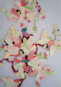 Arlan Huang Pinky's Greens 2014 Acrylic and Oil on Plexi
