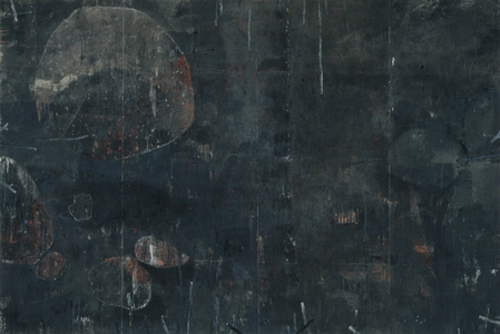 Arlan Huang Even in the Dark  1989 - 1990 Oil on Canvas with Metal