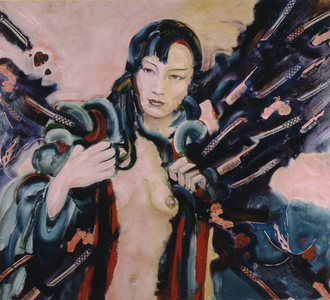 Arlan Huang Anna May Wong  1983 - 1984 Acrylic and Oil on Canvas