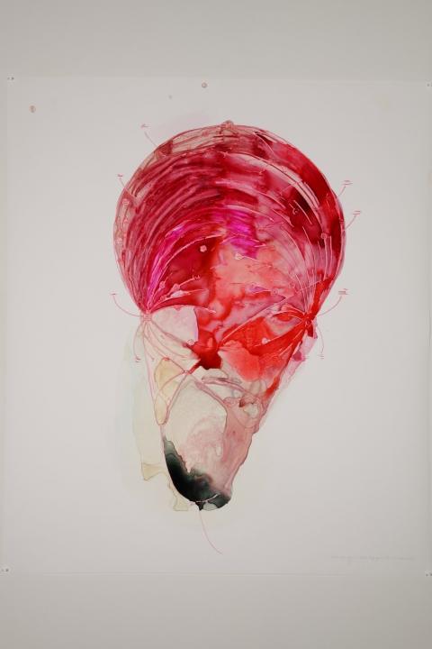 Teresa Bramlette Reeves Watercolor Ink Oil Pastel And Paint On Paper