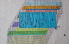Teresa Bramlette Reeves A week of journal drawings, 2003 colored pencil on manipulated blue print paper