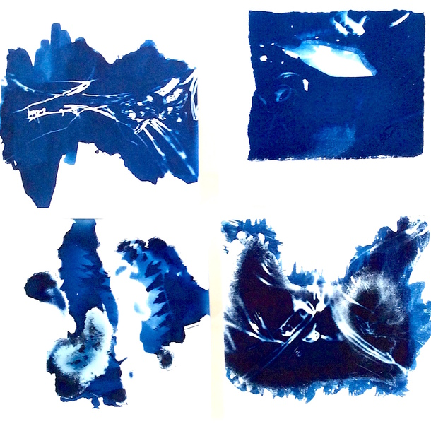 Cyanotypes Abstract #6