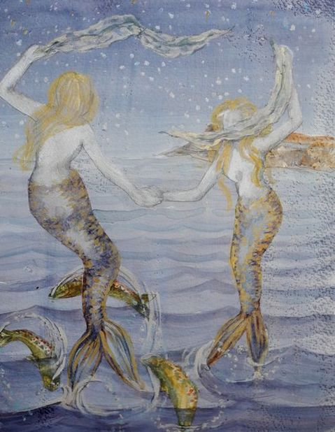 WE SEA/please refer to resume page for a statement on these paintings. chiloe sirena