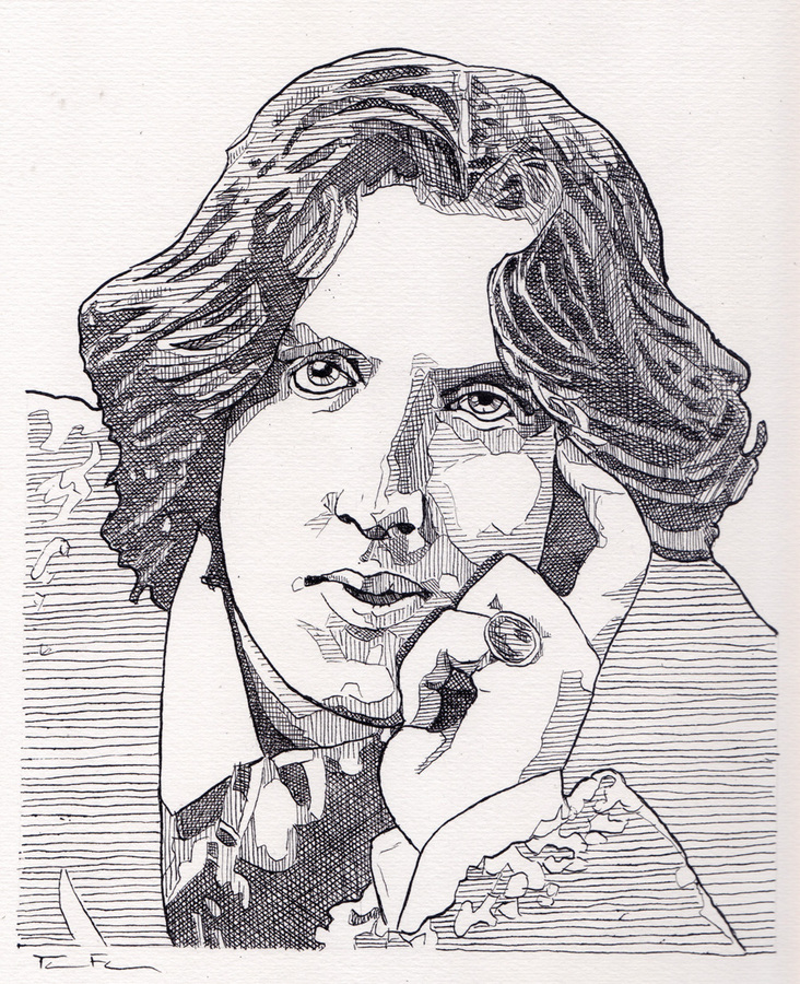 the Gay Agenda Drawings Oscar Wilde