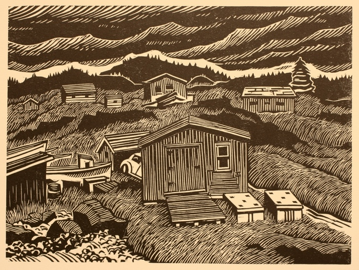 Thayer Carter Newfoundland Collection 2019 woodcut print