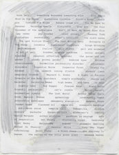 Laura Bell and Ian Ganassi WPKN Radio Corpses Text collage and pencil on paper