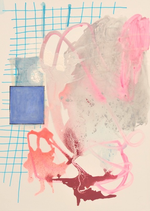 Paintings on Paper and Linen 2013 - 2001 Flashe paint, resin, marker, gesso on BFK paper on stretched linen