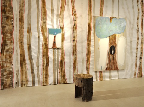 Installations of Exhibitions paper, wood, paintings