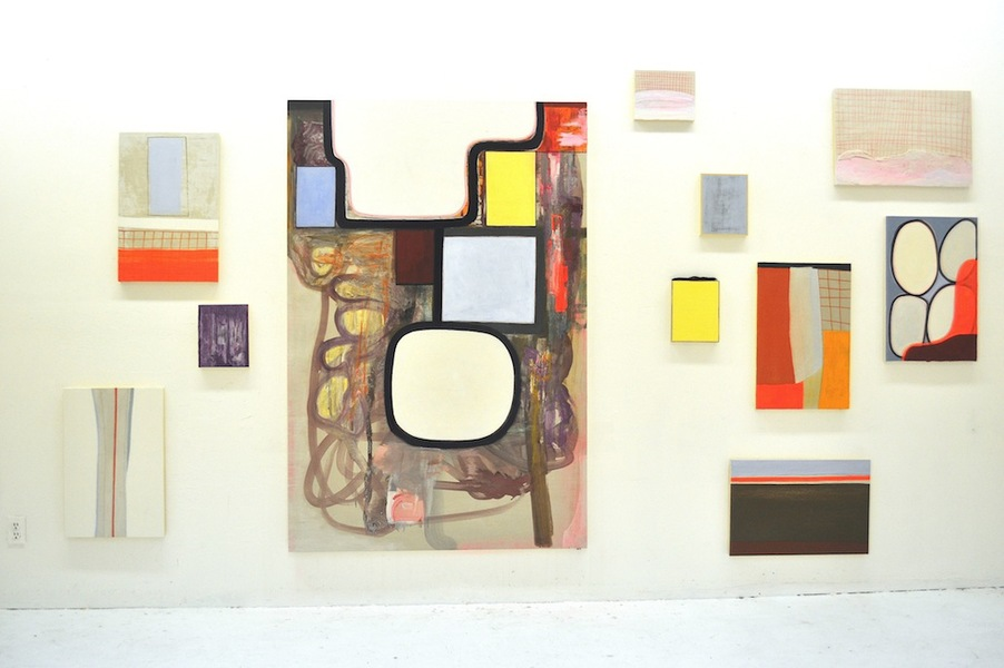 Paintings Installations Studio View 2014