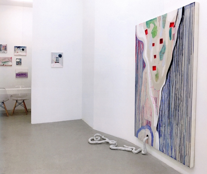 "Installations of Exhibitions ""Slippery Slope"",  High Noon Gallery"