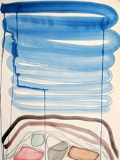 Theresa Hackett Bogliasco Works on Paper Flashe paint, marker, pigment, pencil on bfk paper