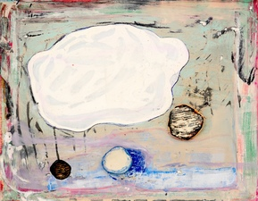 Theresa Hackett  Small Paintings 2018 - 2017  Flashe paint, acrylic, marker, diatomaceous earth, clay on wood panel.