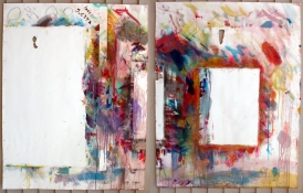 thomas fernandez Ghost Paintings 2002-2007 mixed media diptych