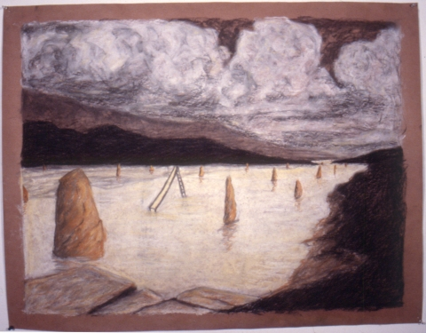 Early Drawings untitled landscape (inv.#1987-05)