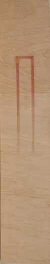 Narrow Vertical paintings  wax on plywood