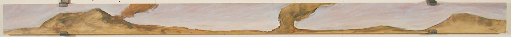 Thomas Vinton Long Horizontal Paintings 1993-2002  oil + charcoal on plywood
