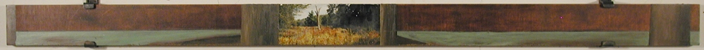 Thomas Vinton Long Horizontal Paintings 1993-2002  oil + photograph on plywood