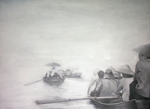 Thuan Vu Boat People (2002-2003) OIl on panel