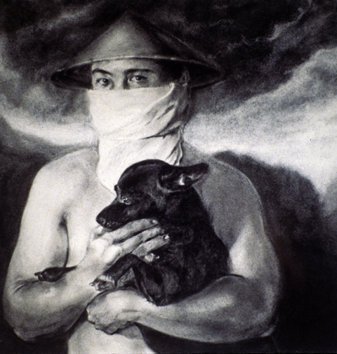 Thuan Vu The Refugee Pictures (2001-2003) charcoal on paper